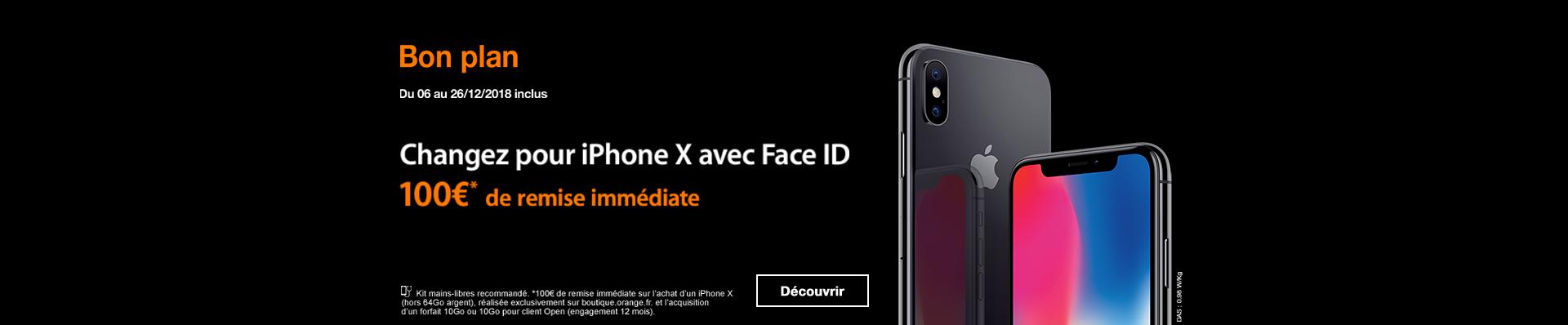 iPhone X ODR 100 euros