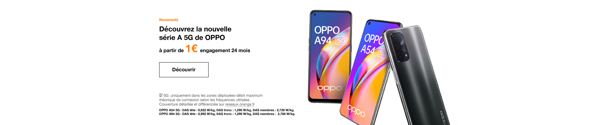 Gamme OPPO 5G A