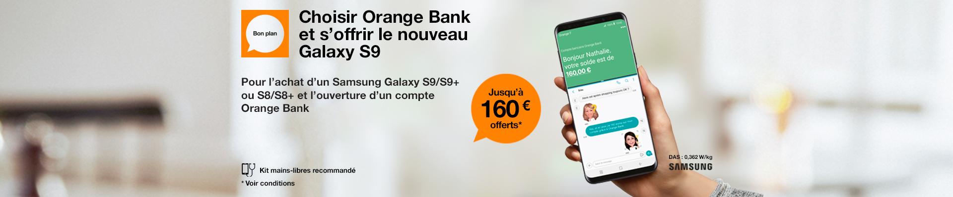 Orange bank Samsung  S9