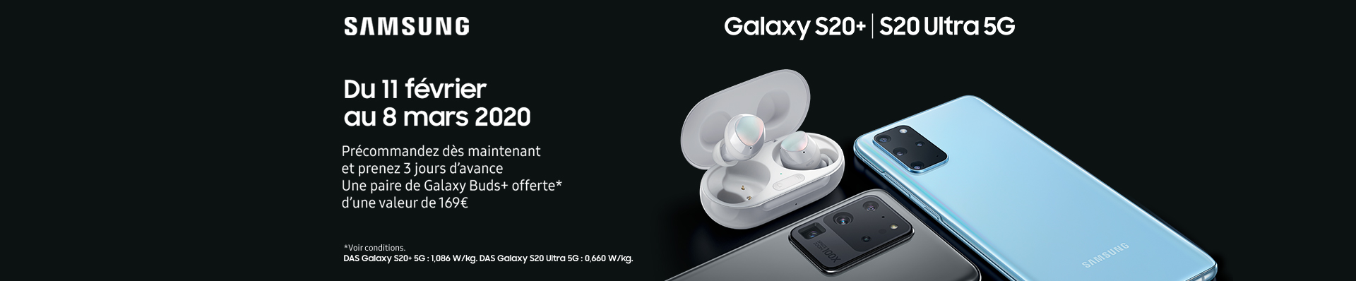 samsung Galaxy S20 precommande