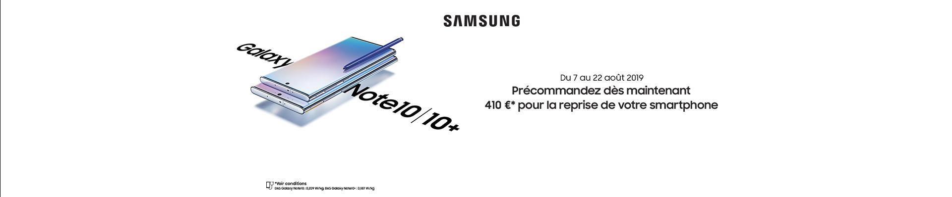 Précommandez le Samsung Galaxy Note10