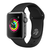 Afficher les avis pour le produit Apple Watch Series 3 38mm alu gris sidéral bracelet noir