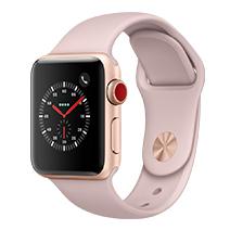 Afficher les avis pour le produit Apple Watch Series 3 4G 38mm alu or bracelet rose des sables