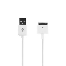 Cable USB 30 pins Xqisit Blanc-Vue1