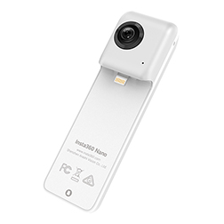 camera insta 360 nano 1 vue incline face