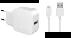 Chargeur secteur Bigben et cable Micro-USB