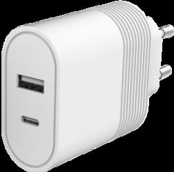 Chargeur Secteur Bigben Ultra-Rapide 2 Ports USB A+C 12+20W