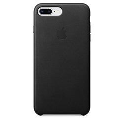 Coque Cuir Apple pour iPhone 7 Plus 8 Plus Noire