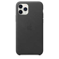 Coque en cuir pour iPhone 11 Pro - Noir - vue1