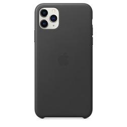 Coque en cuir pour iPhone 11 Pro Max - Noir - vue1