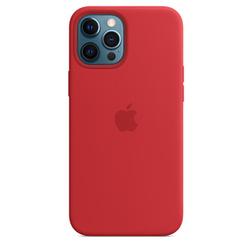 Coque en silicone avec MagSafe pour iPhone 12 Pro Max -  Rouge