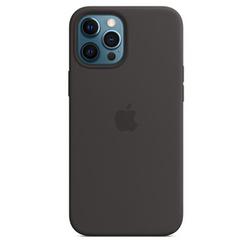 Coque en silicone avec MagSafe pour iPhone 12 Pro Max - Noire