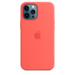Coque en silicone avec MagSafe pour iPhone 12 Pro Max - Rose