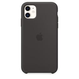 Coque en silicone pour iPhone 11 - Noir - vue1