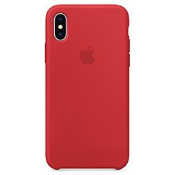 Coque en silicone pour iPhone X Rouge vue 1