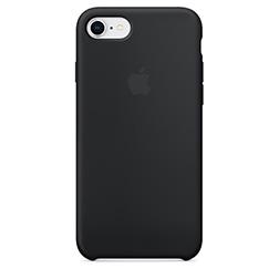 Coque Silicone Apple pour iPhone 7 8  Noire