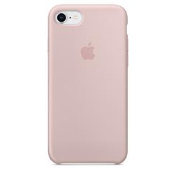 Coque Silicone Apple pour iPhone 7 8 Rose vue 1