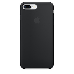 Coque Silicone Apple pour iPhone 7 Plus 8 Plus Noire
