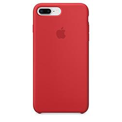 Coque Silicone Apple pour iPhone 7 Plus 8 Plus Rouge vue 1