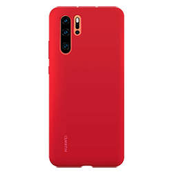 Coque silicone Huawei P30 Pro rouge dos