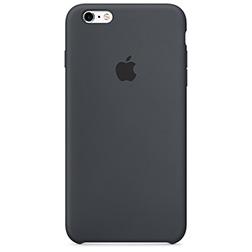 Coque silicone Apple pour iPhone 6 Plus, 6S Plus Noir