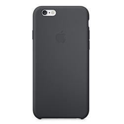 Coque Silicone iP6S Noir-vue1