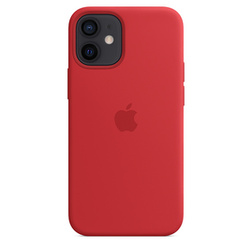 coque silicone rouge apple