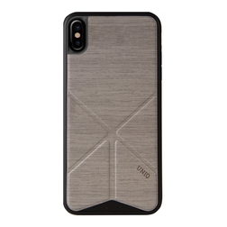 Coque Transforma pour iPhone X beige vue face
