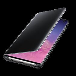 Etui a rabat Clear View Samsung Galaxy S10 Noir vue 3