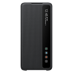 Etui a rabat Clear View Samsung Galaxy S20 Ultra Noir vue 1