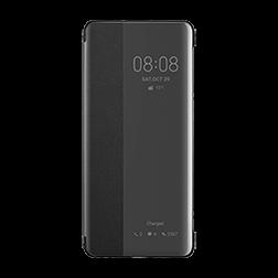 Etui a rabat Huawei P30 Pro noir face