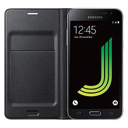 Etui à rabat noir Samsung Galaxy J3