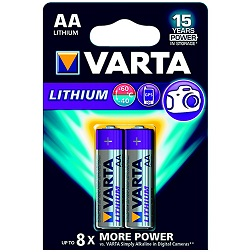 Pile Varta pack de 2 LR6 Lithium