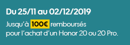 coupon ODR Honor 20 et 20 PRO Sosh