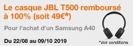 Vignette 260x90 ODR Casque JBL T500 BT Galaxy A40