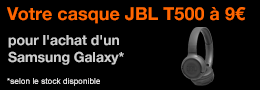 Vignette JBL T500 Samsung Galaxy