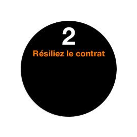 Etape 2 Résilier votre contrat