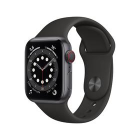Apple Watch Series 6 Cellular 40mm alu gris sidéral bracelet sport noir