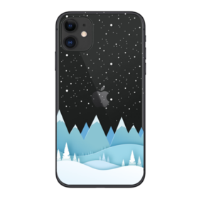 Coque Winter iPhone SE 20 Montagne Neige