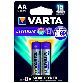 Piles Lithium Varta LR6 1,5 V (X2)