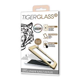 Film de Protection Tiger Glass pour iPhone 6, 6S, 7, 8, blanc