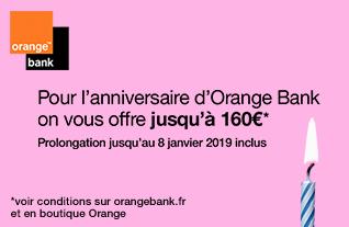 Orange Bank anniversaire