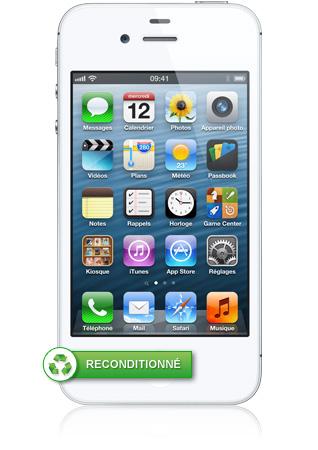 iphone 4s 16go blanc reconditionn puce a5 bicoeur. Black Bedroom Furniture Sets. Home Design Ideas