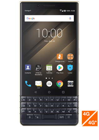 Blackberry KEY2 LE bleu - vue 1
