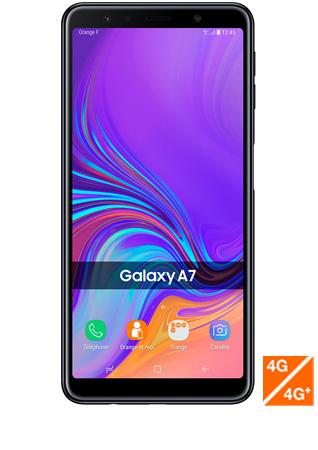 Galaxy A7 2018 noir vue 1