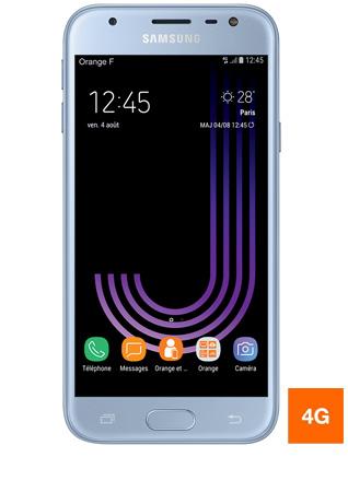 Galaxy J3 2017 bleu - vue 1