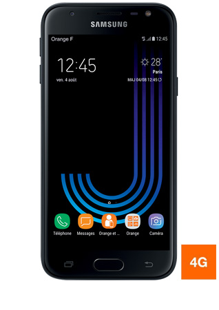 Galaxy J3 2017 noir - vue 1