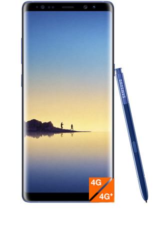 Galaxy Note8 bleu roi vue 1
