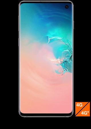Galaxy S10 blanc prisme vue 1