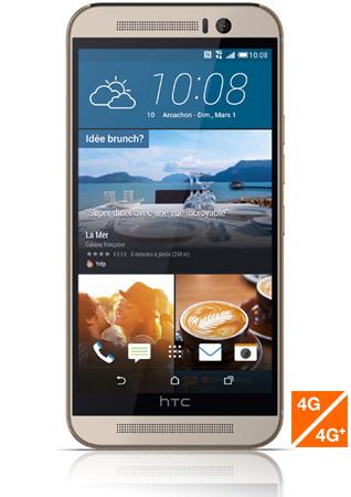HTC One M9 argent vue 1